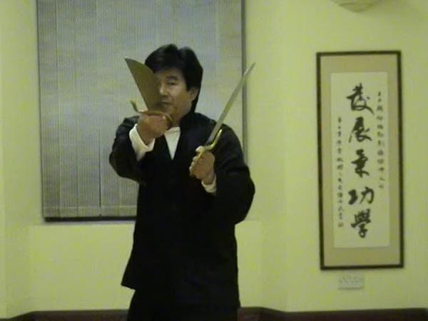 Wing Chun pole, knife and dummy