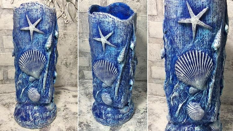 Ваза своими руками в морском стиле. Как сделать вазу