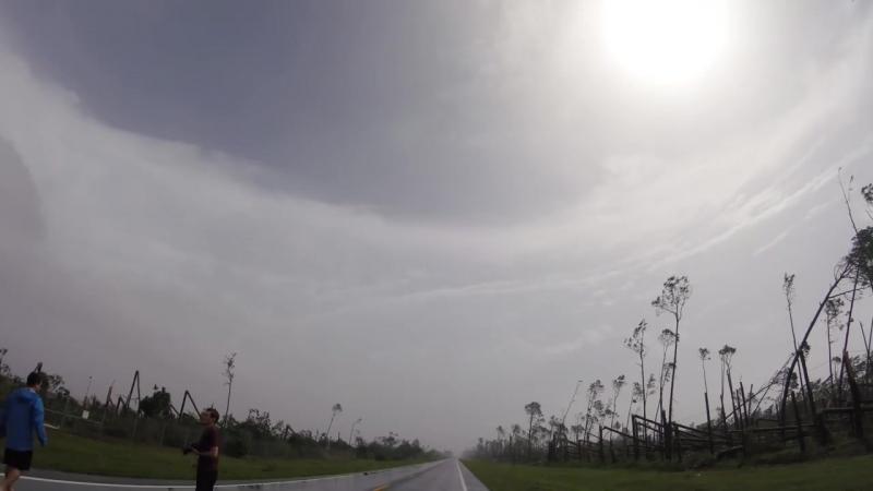 Уникальное видео Глаз урагана Майкл вблизи Панама Сити Флорида США 10 10 2018