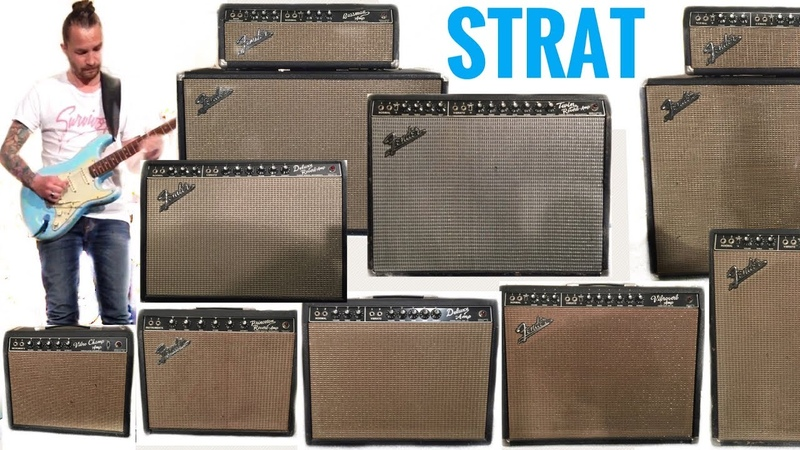 Shootout! STRAT and 9 Vintage BLACKFACE Fender Amps
