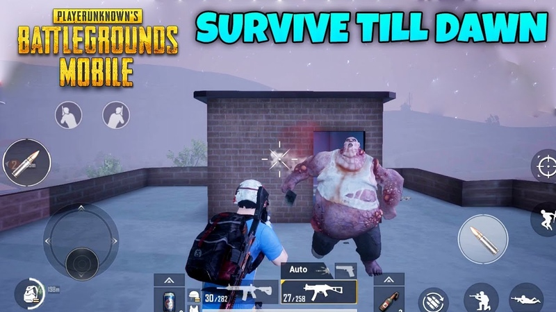 PUBG MOBILE - ZOMBIE MODE ( SURVIVE TILL DAWN ) - ULTRA GRAPHICS GAMEPLAY