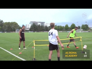 Футбольный теннис. AS Roma vs ACADEMY