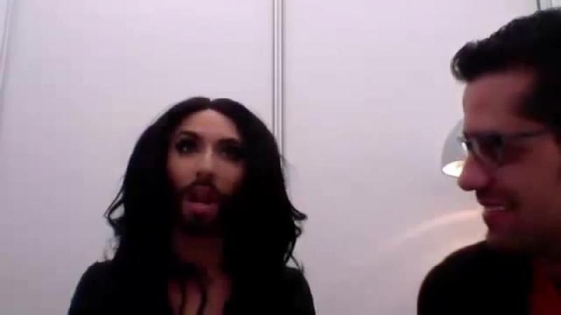 Conchita Wurst (Austria) joins escXtra live stream 03.05.2014 » Freewka.com - Смотреть онлайн в хорощем качестве