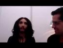 Conchita Wurst (Austria) joins escXtra live stream 03.05.2014