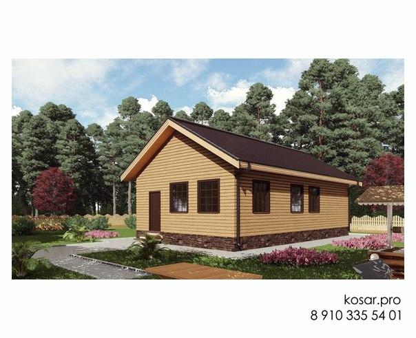Одноэтажный дом 5029