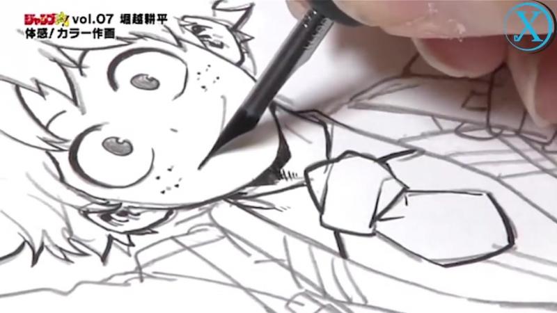 Kohei_Horikoshi_Drawing_Izuku_Midoriya_[Jump_Ryu]