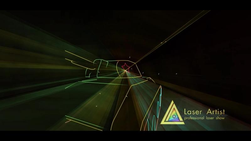 Лазерноешоу 75 лет битве под Москвой, Рузино Моск.Обл. Работа компании Laser Artist