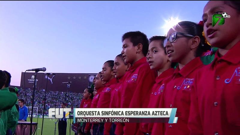 Mexico - Esperanza Azteca interpreta el Himno Nacional Mexicano en la Final de la Liga Bancomer MX