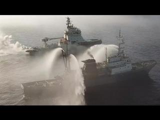 Учение кораблей Северного флота по поисково-спасательному обеспечению в рамках маневров «Восток-2018»