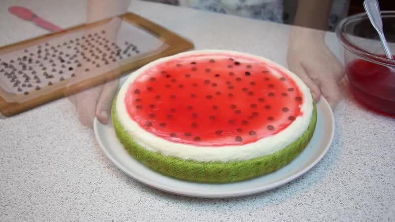 Торт Пирог Арбуз ✧ Watermelon Cake