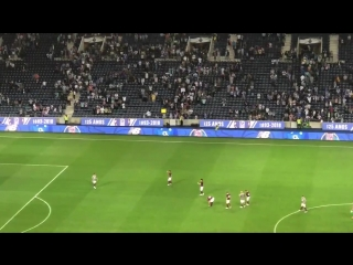 nufc players applaud fans who made the journey to Porto