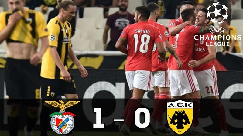 Resumen BENFICA vs AEK 1-0 resumen y goles