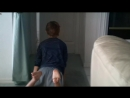 Brother freakout - boy showing his feet