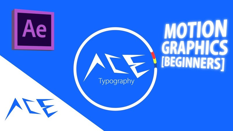 After Effects Tutorial - Basic Motion Graphics/Typography (Beginners)