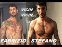 INTIGRANTE STEFANO DE MARTINO E L'AMICO FABRIZIO CORONA FOTOGRAFATI INSIEME ABBRACCIATI