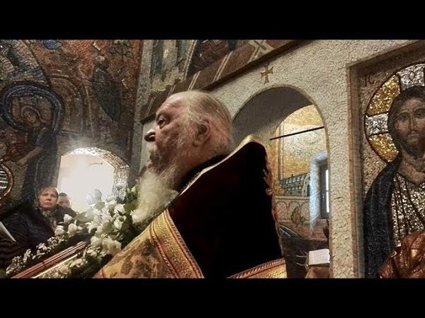 Проповедь на первый престольный праздник крестильного храма