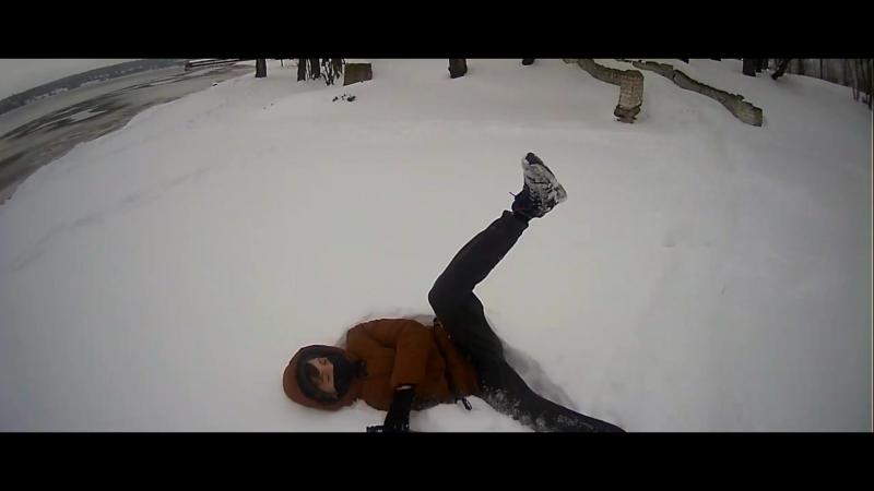VLOG Паркур Зимой Dima Mavrin