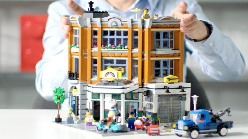 LEGO Modular Building 2019 - Corner Garage LEGO Designer Video REVIEW - Creator Expert 10264