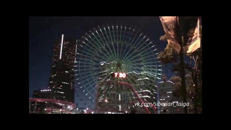 Колесо обозрения Cosmo Clock 21 в городе-порту Йокогама
