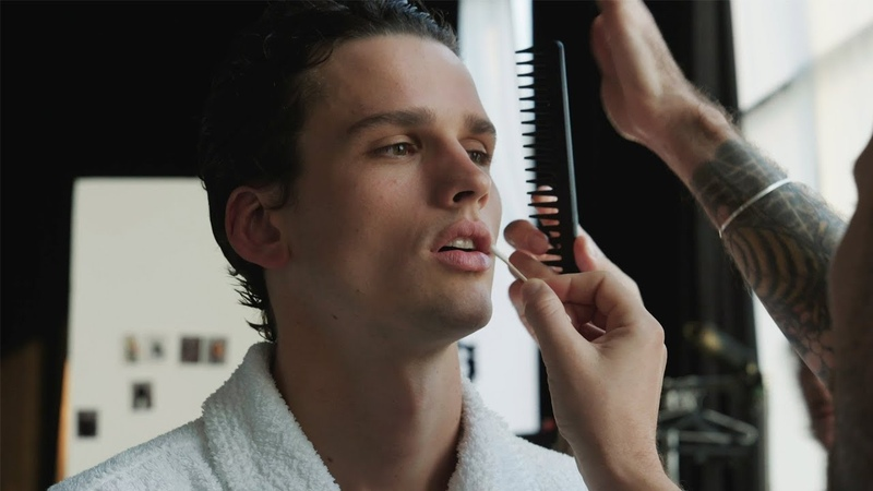 Go behind-the-scenes at supermodel Simon Nessmans Vogue Hommes cover shot