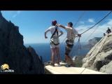Федор Ilias-kay Rope jumping with Skyline x-team in Crimea