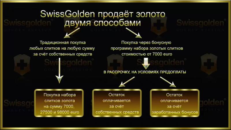 Swissgolden пошаговое обучение. Шаг 1 - о компании Swissgolden