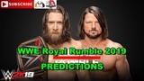 WWE Royal Rumble 2019 WWE Championship Daniel Bryan vs. AJ Styles Predictions WWE 2K19
