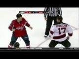 Mike Green vs. Ilya Kovalchuk | Capitals Devils Fight | 10/09/10