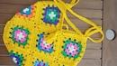 Motifli Çanta Grannysqure Crochet Bag 13 Motifs