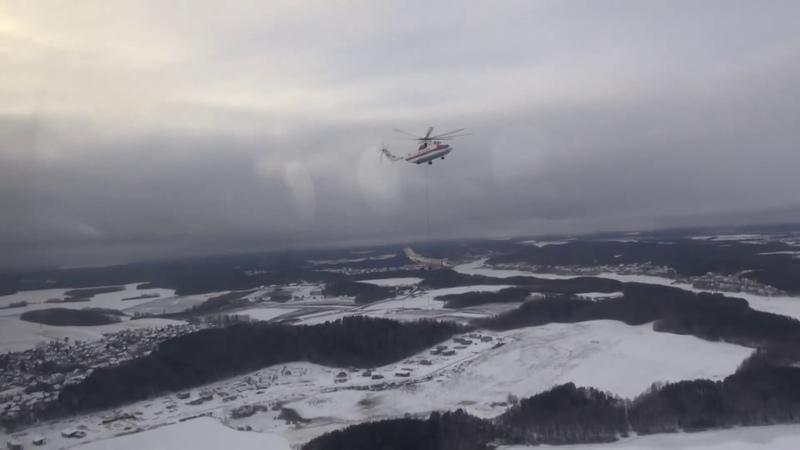 Авиаторы МЧС провели операцию по транспортировке крупногабаритного груза