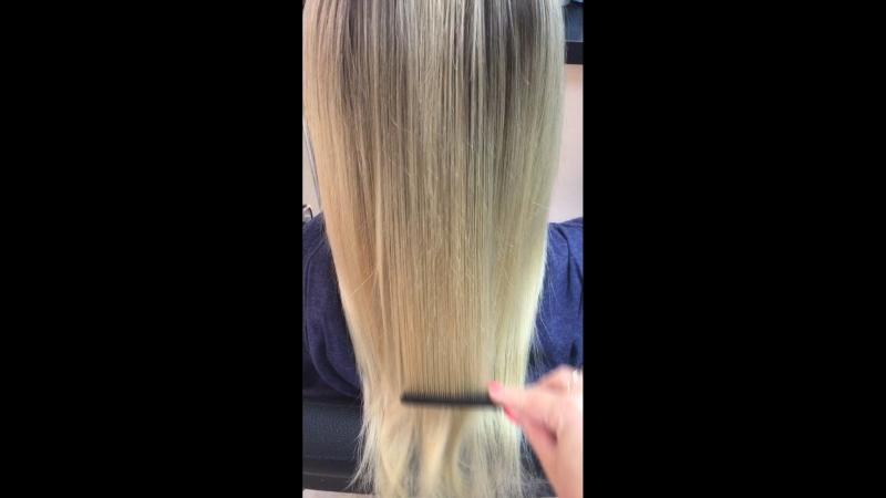 Наполнение непослушных и сильно путающихся волос кератином Brazilian Blouaut