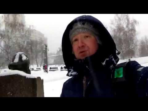 Прогулка по московским дворикам. Рекордный снегопад.