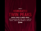 Congratulations to Twin Peaks creators David Lynch and Mark Frost!