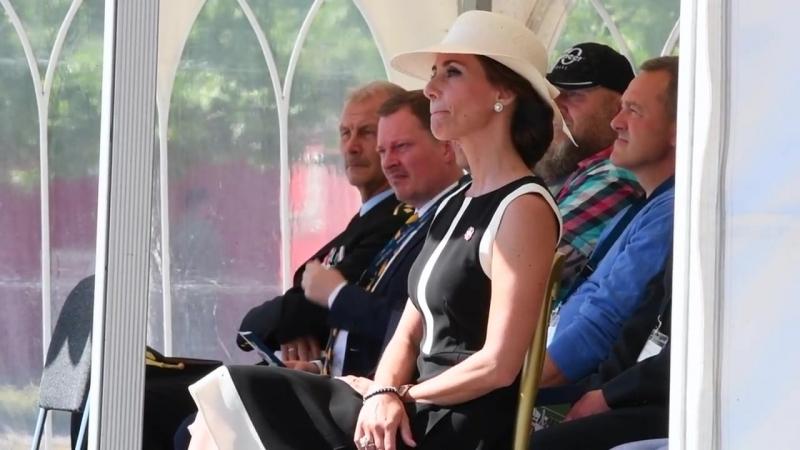 Принцесса Мари на мемориальной церемонии Агентства по чрезвычайным ситуациям