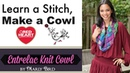 Learn How to Knit the Entrelac Knit Cowl in Red Heart Boutique Unforgettable Yarn