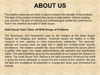 Geek Squad Tech Support Team Provides Best Repair Solutions