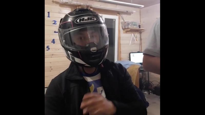 Тест шлема HJC на вентиляцию (юмор)