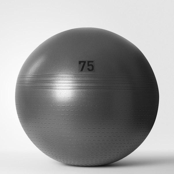 Гимнастический мяч Solid Grey (75 см)