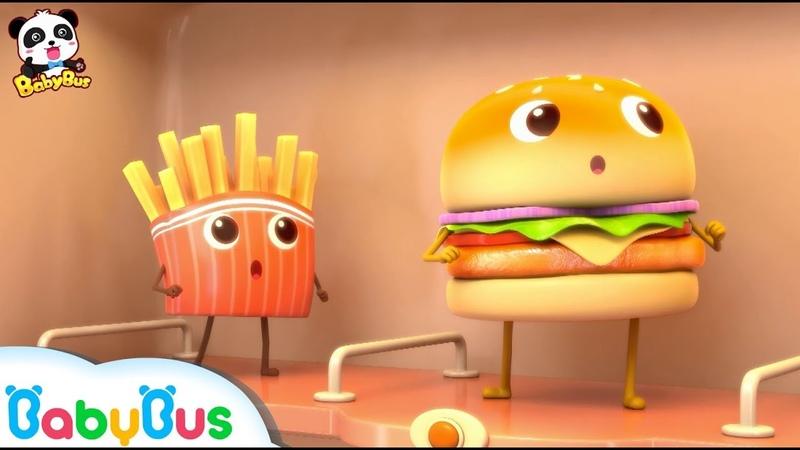 ★NEW★巨大ハンバーガーとフライドポテトどっちが好きなの? | 巨大ハン1