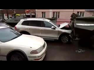Массовая авария из-за БТР. 27.02.2019 Курск ДТП