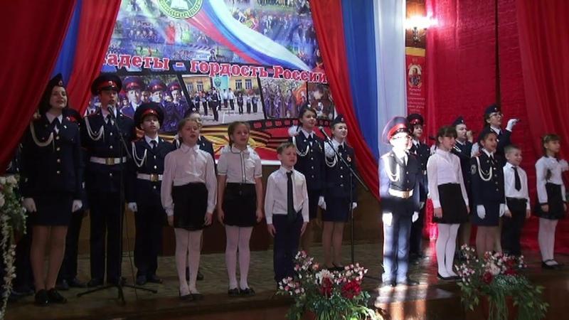 Присяга кадетов в Урюпинской кадетской школе.