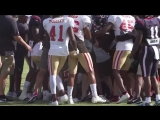 Texans DeAndre Hopkins fights 49ers James Ward at joint practice