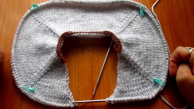 V образный вырез сверху с планкой Расчет петель выреза, планки, подрезов рукавов