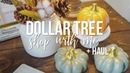 Dollar Tree FALL Shop With Me Haul 2018!!