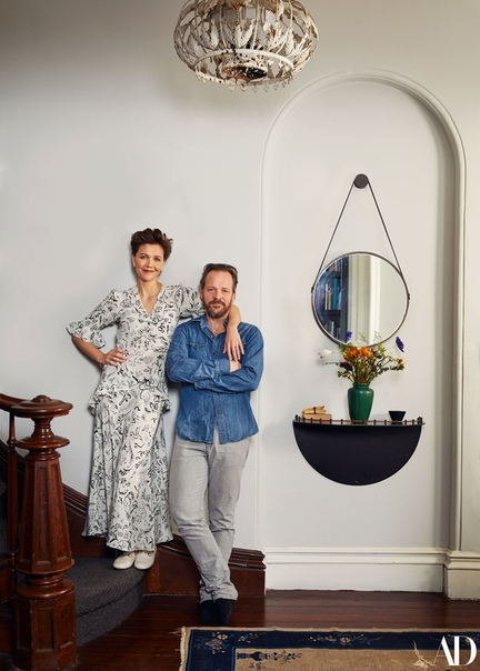 Maggie Gyllenhaal & Peter Sarsgaard for Architectural Digest, 2019