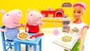 Peppa Pig Deutsch. Die Spielzeuge gehen in die Pizzeria.