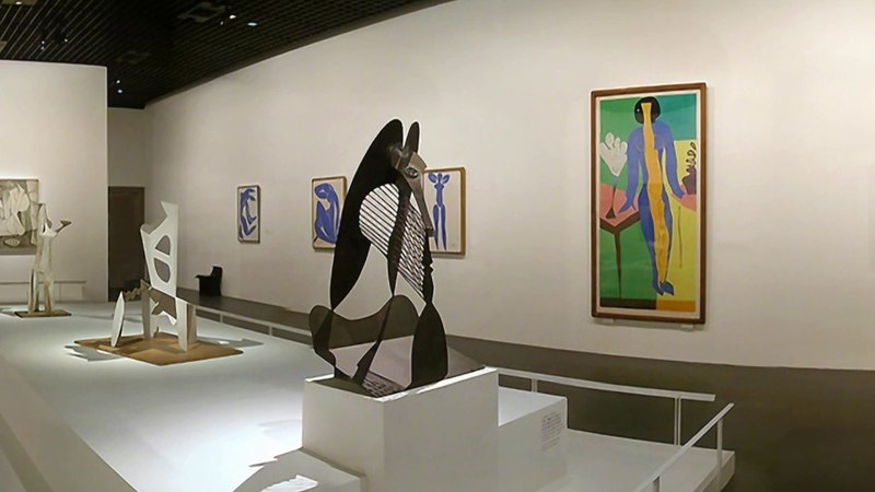 Inside Museum with Matisse, Picasso, Braque, P. Gaillard and much more.