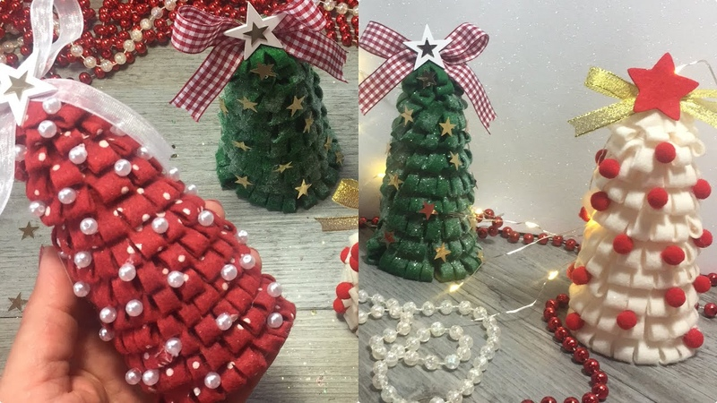 Easy DIY for Christmas tutorial facilissimo per Natale How to make a little tree with plastic glass
