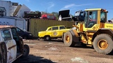 Checker Cab Salvage Operation in Lawrence, the