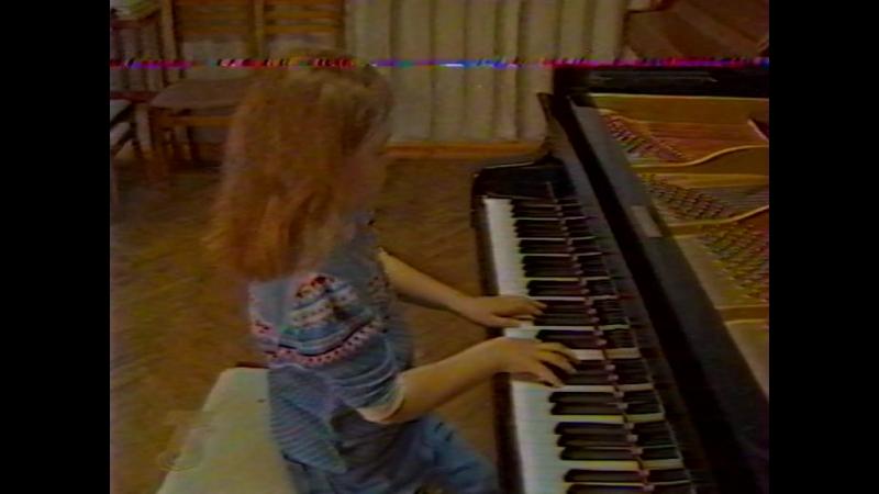 1999 02 20 Мария на Волгоград ТРВ в музыкальной школе